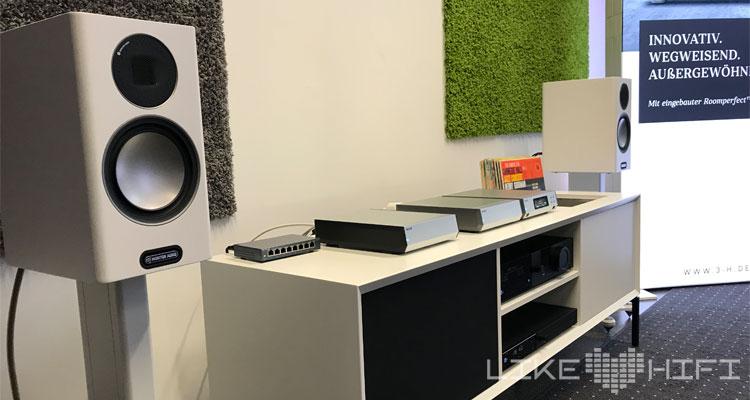 Mika Dauphin Melco Lyngdorf Drei H Monitor Audio Roksan MDHT 2019 Mitteldeutsche HiFi Tage Leipzig Lautsprecher Verstärker Plattenspieler Streamer