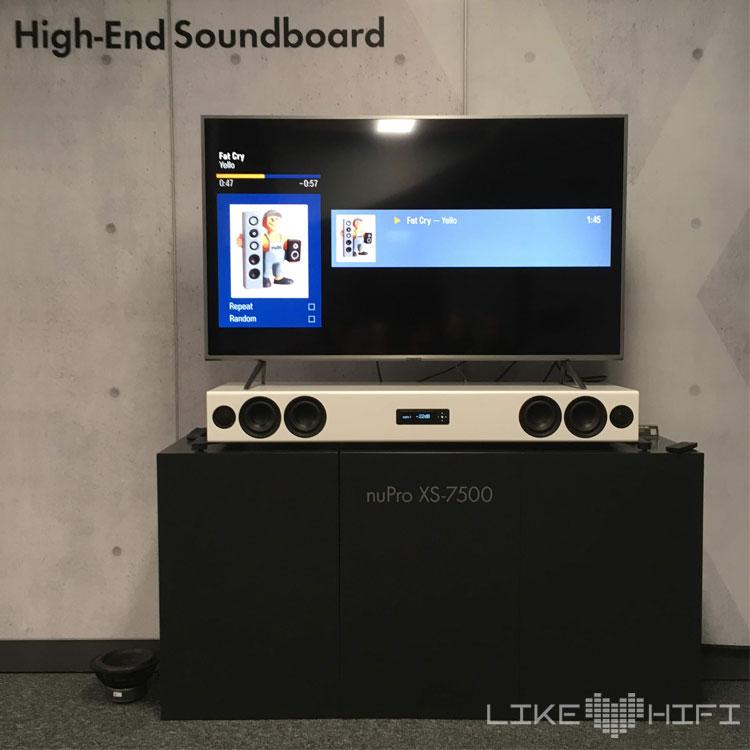 Nubert Soundboard Soundbar nupro xs-7500 MDHT 2019 Mitteldeutsche HiFi Tage Leipzig Lautsprecher