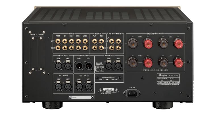 Accuphase E-800 Verstärker Vollverstärker Stereo integrated amplifier amp test review news Anschlüsse rear