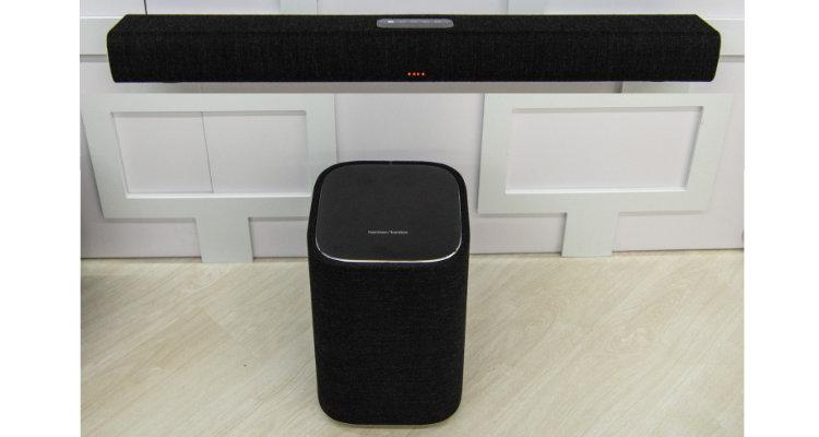 Harman Kardon Citation Duo grau grey Multiroom Lautsprecher Smart Speaker Subwoofer Soundbar Multibeam