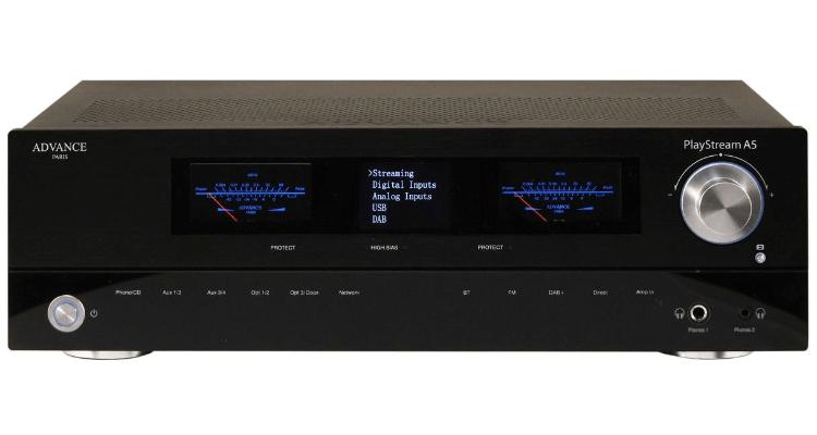 Frontansicht Advance Paris Playstream A5 Netzwerk Verstärker Streaming Amp News Test