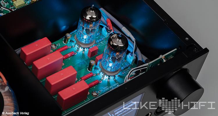 Test Review CocktailAudio HA500H Kopfhörerverstärker Hybrid DAC DA Wandler Cocktail Audio Röhre Innen