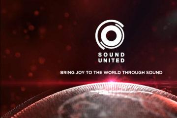 Sound United Logo über Welt