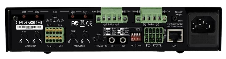 Cerasonar Verstärker Multiroom Install Custom Einbau Projekt Inwall cs-500dsp4