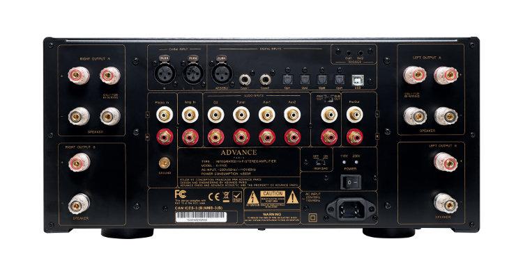 Anschlüsse des Advance Paris X-i1100 Vollverstärker Amp Stereovollverstärker