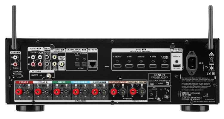 Denon X-Serie AVR-X1600H DAB AV-Receiver Test Review News Anschlüsse