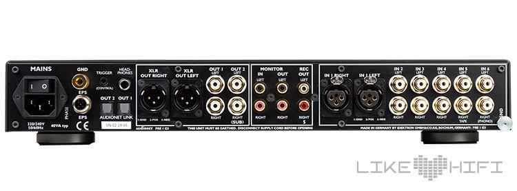 Test Review Audionet Audionet PRE I G3 Vorstufe Rückseite Anschlüsse Rear Stereo Preamplifier