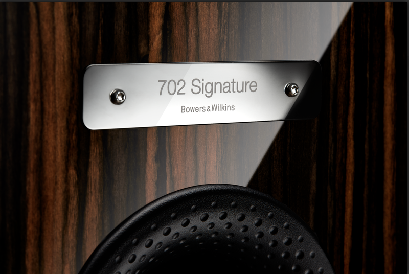 Bowers & Wilkins B&W 702 705 Signature Plate Label
