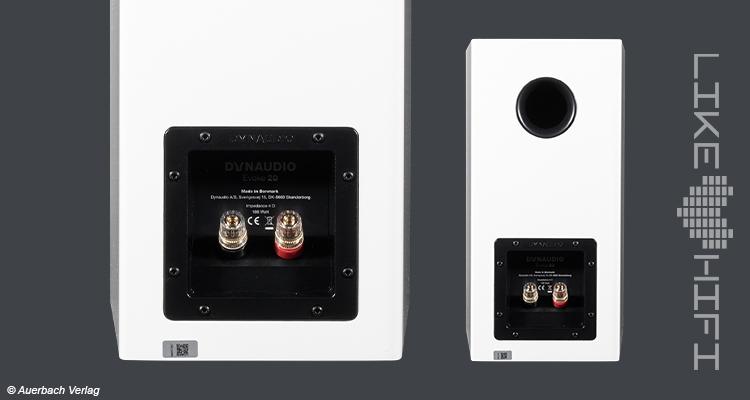 Dynaudio Evoke 20 Anschlüsse Test Review Lautsprecher Speaker Regallautsprecher