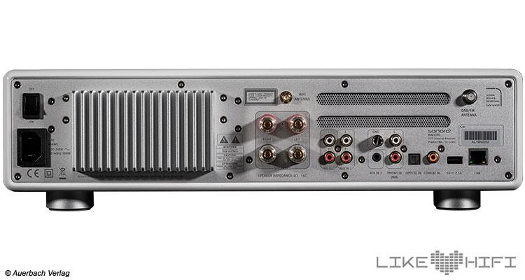 Test Sonoro Maestro All-In-One HiFi Receiver Kompaktanlage Testbericht Review Anschlüsse