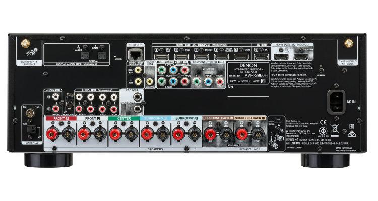 Denon AVR-S960H Rückseite AV-Receiver S-Serie Rear Back News Test Review