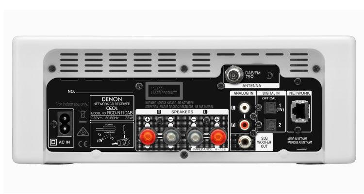 Denon CEOL-N11DAB - Rückseite