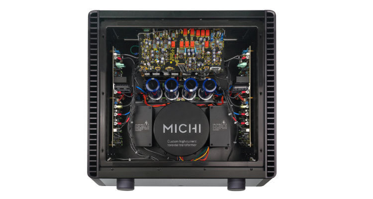 Rotel MICHI X3 Verstärker Amp Review Test News Innenansicht