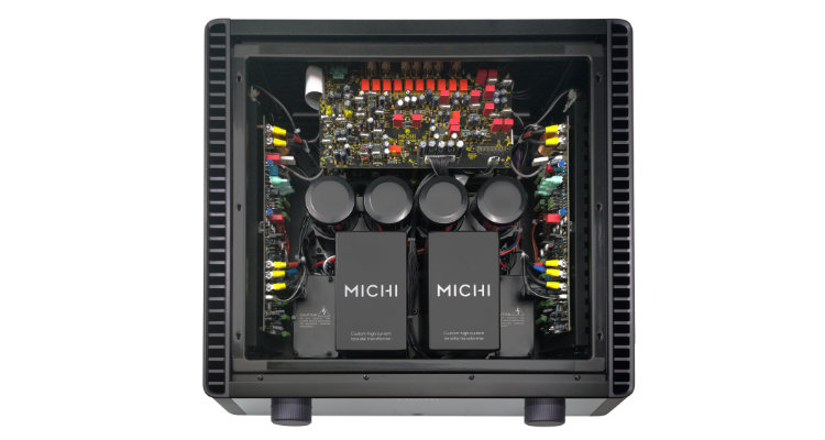 Rotel MICHI X5 Verstärker Amp Review Test News Innenansicht