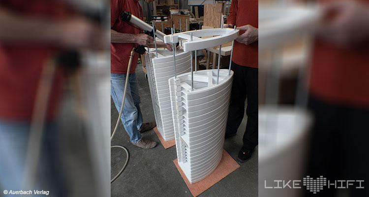 Gauder Akustik Lautsprecher Vor Ort Besuch Renningen Showroom Hörraum Passivlautsprecher High End Isophon Lautsprecherbau Manufaktur Mitarbeiter