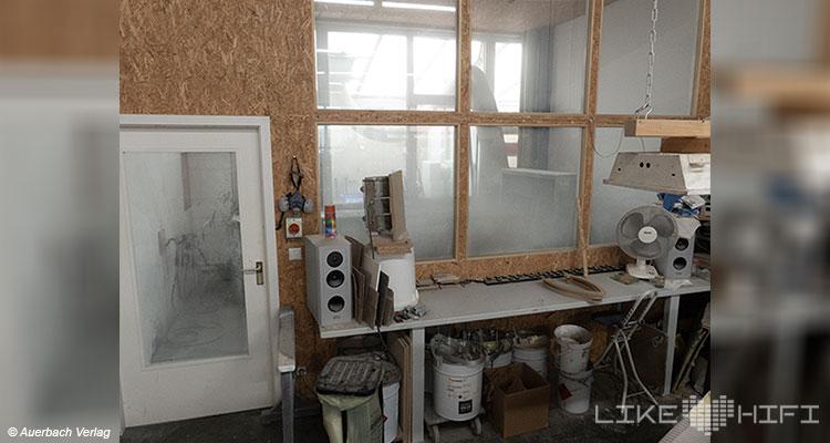 Gauder Akustik Lautsprecher Vor Ort Besuch Renningen Showroom Hörraum Passivlautsprecher High End Isophon Lautsprecherbau Manufaktur Lackierei