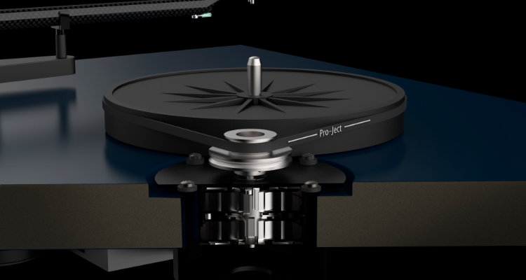 Plattenspieler Pro-Ject Debut Carbon EVO News Test Review Turntable Motor im Detail