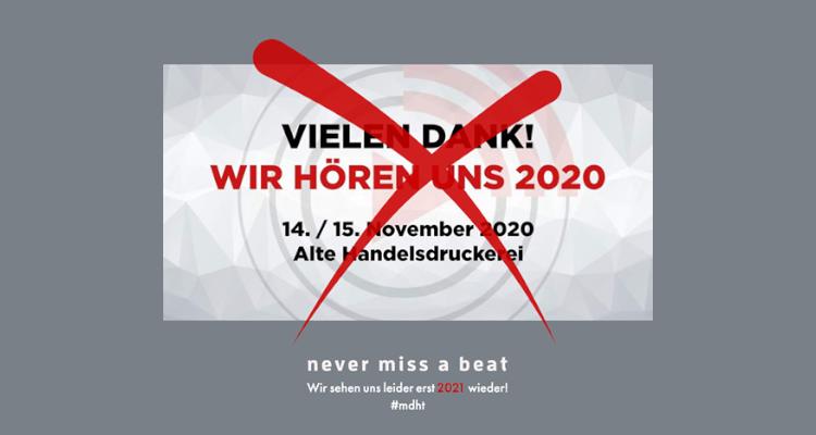 Mitteldeutsche HiFi-Tage 2020 Absage MDHT Corona abgesagt Leipzig Messe HiFitage