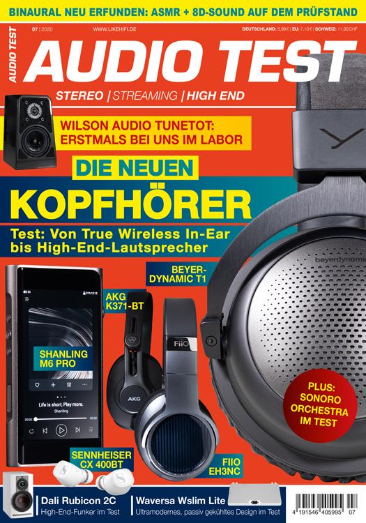 AUDIO TEST Ausgabe 07/20 Magazin HiFi Heft Kaufen Shop bestellen Abo Kopfhörer Auerbach Verlag
