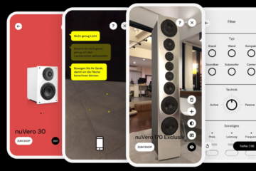 Nubert App nuReality AR Augmented Reality Smartphone Lautsprecher