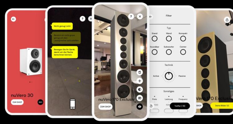 Nubert App nuReality AR Augmented Reality Smartphone Lautsprecher