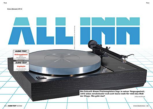 AUDIO TEST Ausgabe 08/20 Magazin HiFi Heft Kaufen Shop bestellen Abo Plattenspieler Auerbach Verlag Linn LP12 Akurate Sondek Turntable Test Review