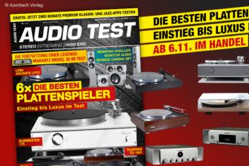 AUDIO TEST Magazin 8/20 2020 HiFi Plattenspieler Test Vinyl Kaufen Shop bestellen Abo