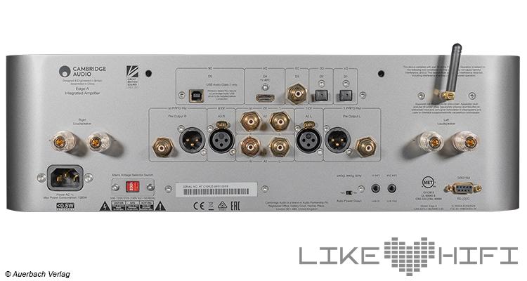 Cambridge Audio Edge A Stereovollverstärker Amp Integrated Amplifier Test Review  Anschlüsse Rear Back