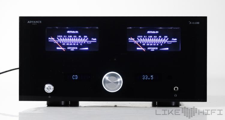 advance paris x-i1100 verstärker test review amp stereovollverstärker