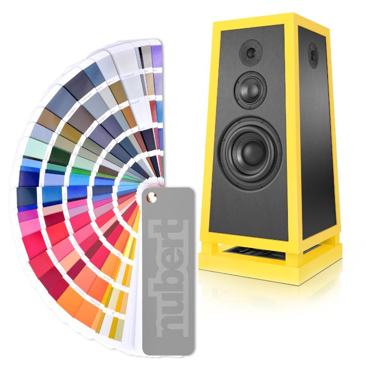 Nubert nuPyramide 717 Exclusiv Lautsprecher gelb RAL Farbe Kaufen News Test Review