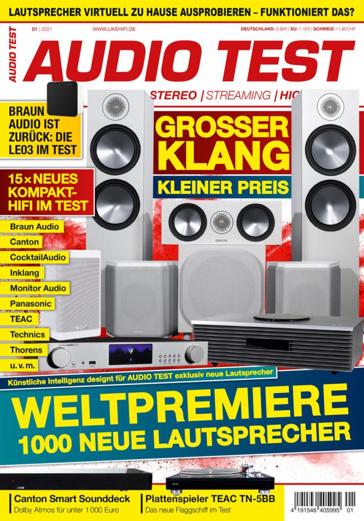 AUDIO TEST Ausgabe 01/21 Magazin HiFi Heft Kaufen Shop bestellen Abo Lautsprecher Auerbach Verlag Test Review