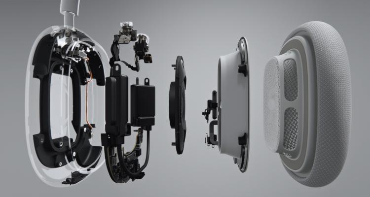 Apple AirPods Max Kopfhörer Aufbau