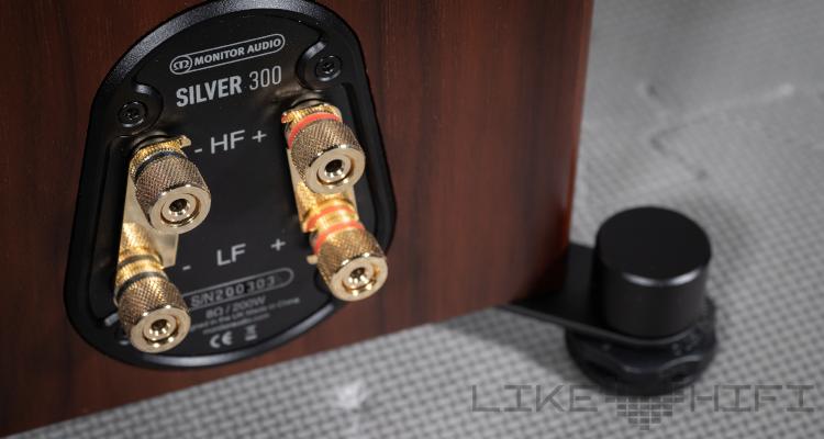 Monitor Audio Silver 300 6G Speaker Lautsprecher Stand Test Review News Anschlüsse Rear Back