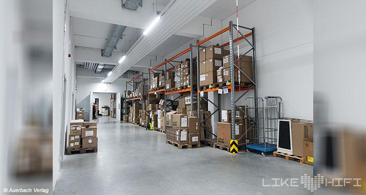 Nubert electronic Lautsprecher Vor Ort Besuch Schwäbisch Gmünd Lager Logistik Lager