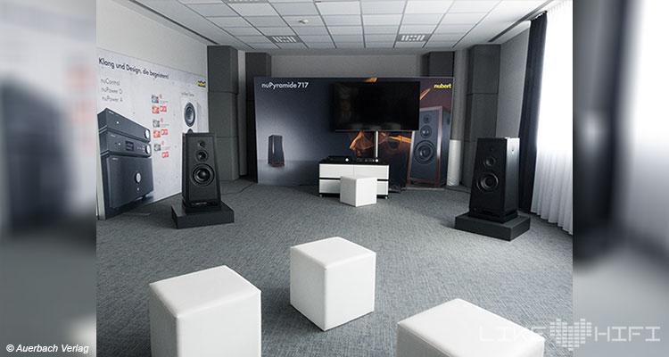 Nubert electronic Lautsprecher Vor Ort Besuch Schwäbisch Gmünd Showroom Hörraum