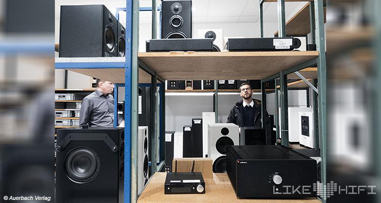 Nubert electronic Lautsprecher Vor Ort Besuch Schwäbisch Gmünd Showroom Thomas Bien Entwickler Lager