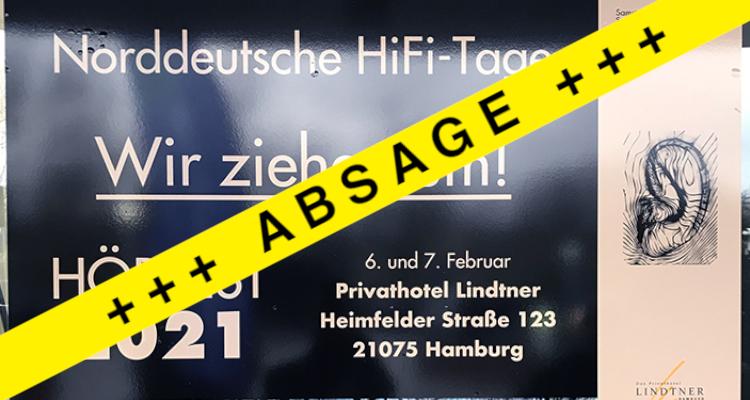 Absage Norddeutsche Hifi-tage 2021 NDHT Corona Messe HiFi Hamburg Show