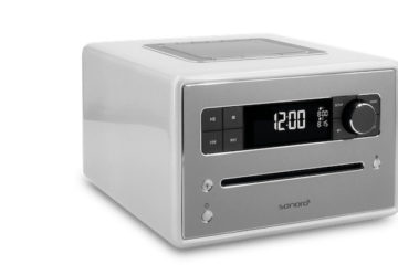 Sonoro QUBO Radio Silber CD-Player Bluetooth Digitalradio