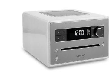 Sonoro QUBO Radio Silber CD-Player Bluetooth Digitalradio