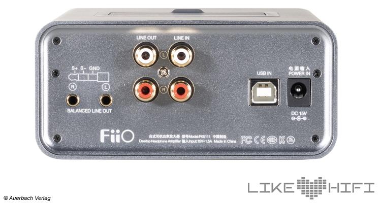 Fiio K5 Kopfhörerverstärker Test Review Anschlüsse Rear Back