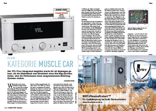 AUDIO TEST Ausgabe 02/21 Magazin HiFi Heft Kaufen Shop bestellen Abo VTL IT-85 Verstärker Test Auerbach Verlag Test Review