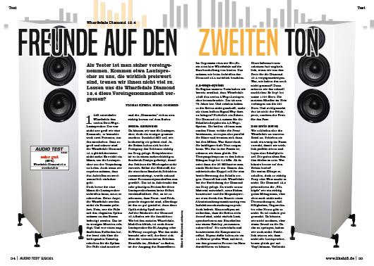 AUDIO TEST Ausgabe 02/21 Magazin HiFi Heft Kaufen Shop bestellen Abo Wharfedale Diamond 12.4 Lautsprecher Auerbach Verlag Test Review