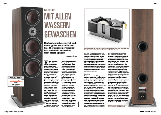AUDIO TEST Ausgabe 02/21 Magazin HiFi Heft Kaufen Shop bestellen Abo Dali Oberon 9 Lautsprecher Auerbach Verlag Test Review