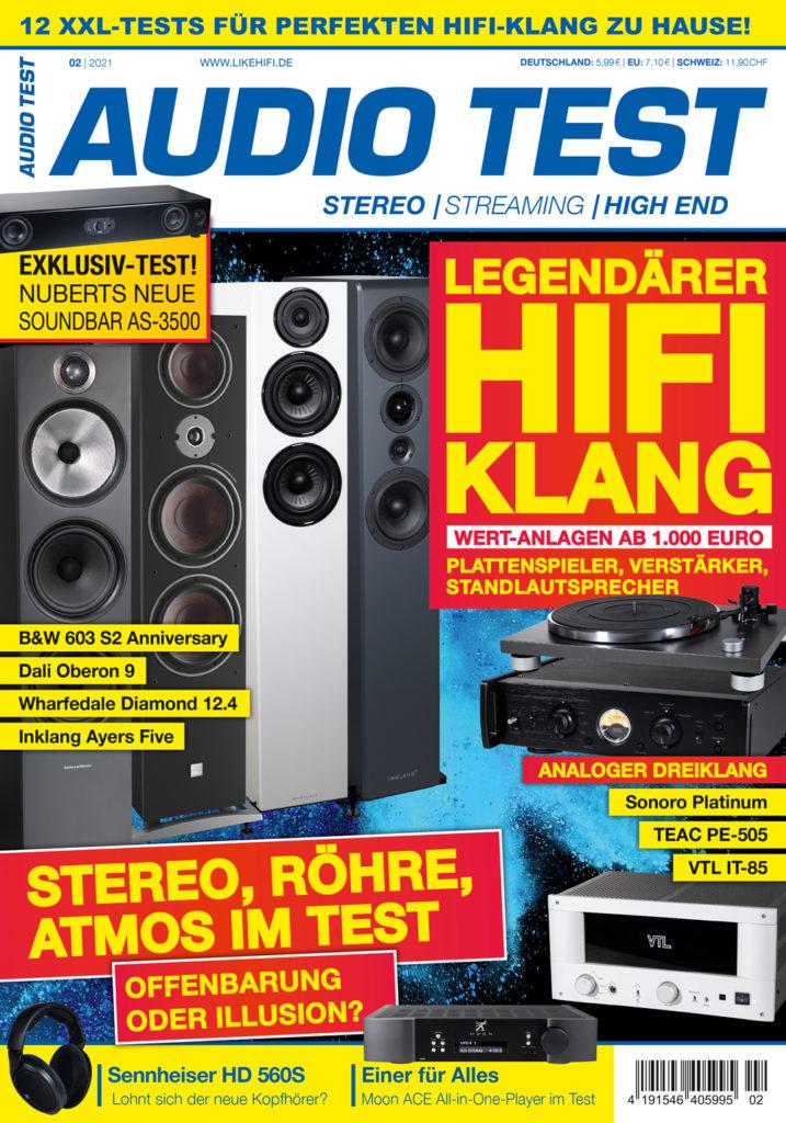AUDIO TEST Ausgabe 02/21 Magazin HiFi Heft Kaufen Shop bestellen Abo Lautsprecher Auerbach Verlag Test Review Februar Titelbild Cover