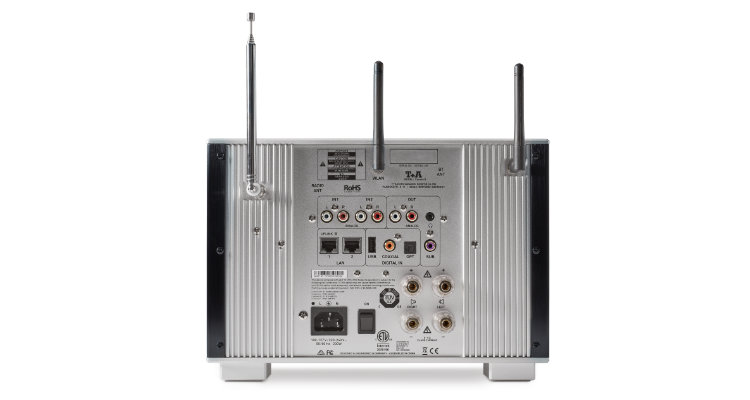 T+A Caruso R Multi Source Receiver System Streaming Anlage News Review Test Anschlüsse Back Rear