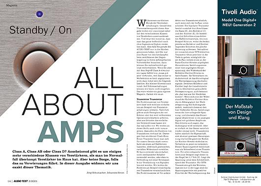 AUDIO TEST Ausgabe 03/21 Magazin HiFi Heft Kaufen Shop bestellen Abo Verstärker Amp Auerbach Verlag Test Review