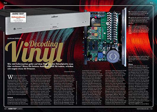 AUDIO TEST Ausgabe 03/21 Magazin HiFi Heft Kaufen Shop bestellen Abo Audionet PAM G2 Auerbach Verlag Test Review