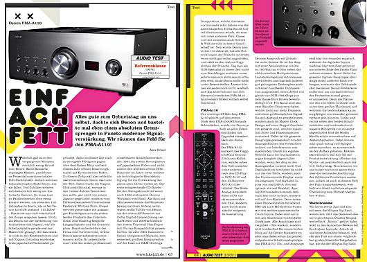 AUDIO TEST Ausgabe 03/21 Magazin HiFi Heft Kaufen Shop bestellen Abo Denon PMA-A110 Verstärker Amp Auerbach Verlag Test Review