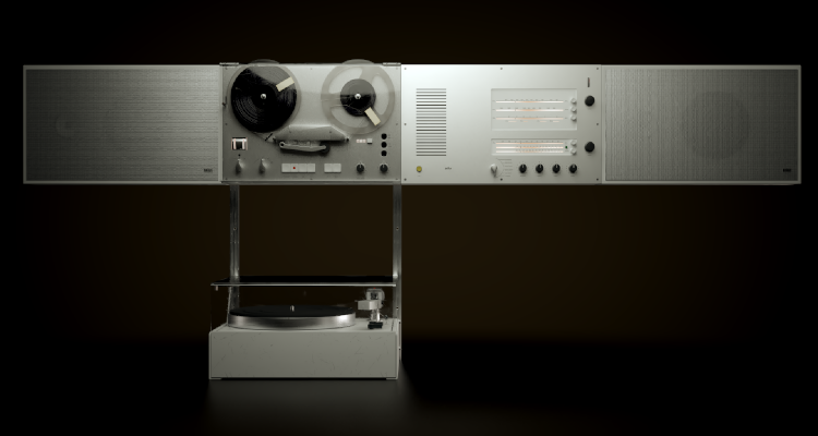 Braun Audio Wandanlage Dieter Rams Audio HiFi Design Speaker Lautsprecher 1965 Vintage Retro