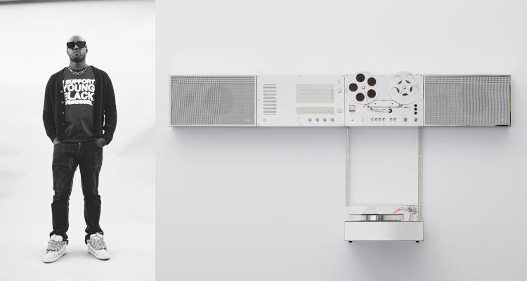 Virgil Abloh Braun Wandanlage reimagined Dieter Rams Audio HiFi Design Speaker